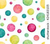Watercolor Colorful Circles...