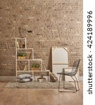 build organize a corner... | Shutterstock . vector #424189996