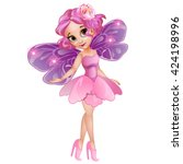 little fairy elven princess... | Shutterstock .eps vector #424198996