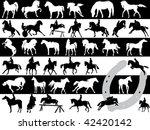 vector illustration of horses... | Shutterstock .eps vector #42420142