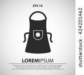 apron icon. apron vector...   Shutterstock .eps vector #424201462