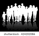 people silhouettes | Shutterstock .eps vector #424202086