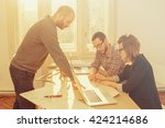 young group of people... | Shutterstock . vector #424214686