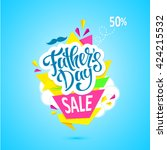 father's day card for the... | Shutterstock .eps vector #424215532