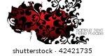 grungy edge flower background... | Shutterstock .eps vector #42421735