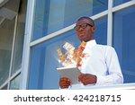 financial concept. make money... | Shutterstock . vector #424218715