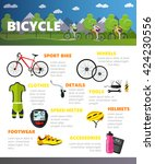bicycles accessories isolated... | Shutterstock . vector #424230556