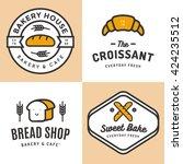 set of badges  banner  labels ... | Shutterstock .eps vector #424235512
