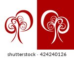 the tree of patterns ... | Shutterstock .eps vector #424240126