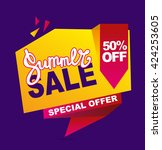 summer sale banner.  vector... | Shutterstock .eps vector #424253605