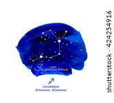 vector zodiac constellations... | Shutterstock .eps vector #424254916