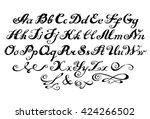 alphabet.  | Shutterstock .eps vector #424266502