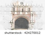 donskoy monastery of the... | Shutterstock . vector #424270012