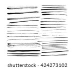 set of brushes ink design...   Shutterstock .eps vector #424273102