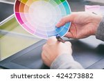 designer using graphics tablet... | Shutterstock . vector #424273882