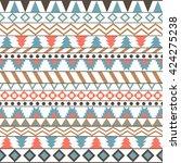 tribal ethnic seamless | Shutterstock .eps vector #424275238