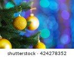 Christmas Tree With Decor On...