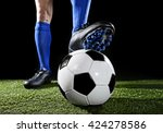 close up legs and feet of... | Shutterstock . vector #424278586