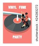 Seamless Pattern Dancing  Funk...