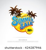 summer sale template banner | Shutterstock .eps vector #424287946