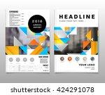 geometric vector background.... | Shutterstock .eps vector #424291078