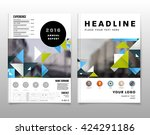 geometric vector background.... | Shutterstock .eps vector #424291186