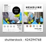 geometric vector background.... | Shutterstock .eps vector #424294768