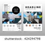 geometric vector background.... | Shutterstock .eps vector #424294798