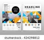 geometric vector background.... | Shutterstock .eps vector #424298812