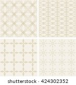 a set of patterns  textures...   Shutterstock .eps vector #424302352