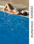 a woman relaxing near the... | Shutterstock . vector #4243033