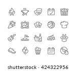 simple set of event related... | Shutterstock .eps vector #424322956