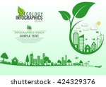 ecology connection  concept... | Shutterstock .eps vector #424329376