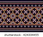 geometric ethnic oriental... | Shutterstock .eps vector #424334455