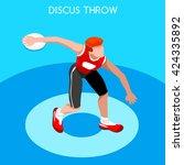 athletics discus throw... | Shutterstock .eps vector #424335892