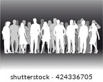 group of people. crowd of... | Shutterstock .eps vector #424336705