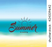 summer is coming text on... | Shutterstock .eps vector #424339642