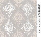 vector vintage damask pattern | Shutterstock .eps vector #424348786