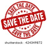 save the date. stamp | Shutterstock .eps vector #424349872