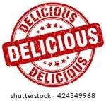 delicious. stamp   Shutterstock .eps vector #424349968