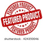 featured product. stamp | Shutterstock .eps vector #424350046