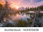scene of mt. shucksan with... | Shutterstock . vector #424353658
