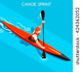 kayak sprint sportsman games... | Shutterstock .eps vector #424362052