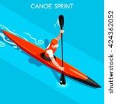 kayak sprint sportsman games... | Shutterstock .eps vector #424362052