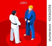 martial arts judo karate fight... | Shutterstock .eps vector #424362058