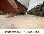 Large Cruise Ship At Dry Dock