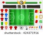 euro soccer field football... | Shutterstock .eps vector #424371916