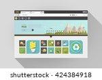 vector flat web browser design...