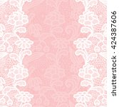 seamless lace border. vector... | Shutterstock .eps vector #424387606