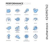simple set of performance... | Shutterstock .eps vector #424390762